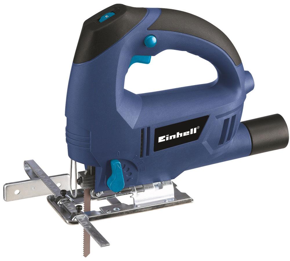 Электролобзик Einhell BT-JS 650 E4321110Электролобзик Einhell BT-JS 650 E предназначен для криволинейного и прямолинейного распила, короткого пропила и распиловки таких материалов как дерево, железо, цветной металл и пластмасса при условии использования соответствующего ножовочного полотна. Данная модель позволяет решить самые разнообразные задачи как дома, так и на даче. Лобзик имеет электронное регулирование частоты хода, подошву, поворачиваемую влево и вправо на угол до 45, а также параллельный упор. Глубина резки пластика: 20 мм Наклонный рез: 45°