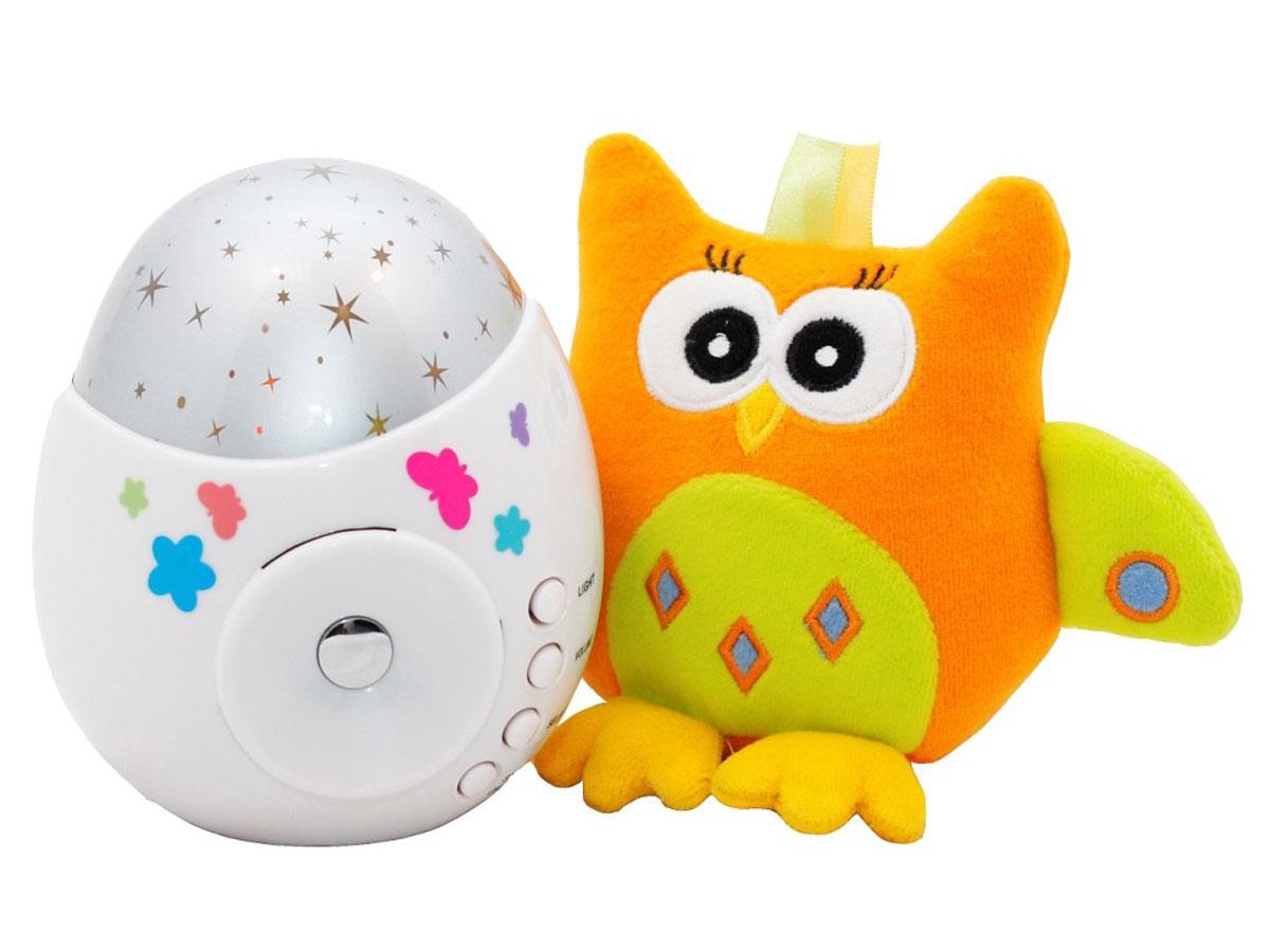 ROXY-KIDS Игрушка-проектор звездного неба COLIBRI с совойR-SA99BИгрушка и ночник-проектор звездного неба Колибри. Функции проектора: проекция звездного неба, встроенные колыбельные мелодии (10 штук), световые эффекты, контрастные звезды, 3 уровня громкости. Специальная функция - возможность подключения к внешнему источнику звука (телефон или плеер) для проигрывания мелодий или аудио-сказок. Помогает малышам сладко заснуть, развивает зрительное восприятие, формирует музыкальный слух. Мягкая игрушка для малышей развивает тактильные и зрительные ощущения. Многие дети с трудом засыпают в темноте и тишине, но и зажженный свет тревожит их не меньше. Оптимальный вариант - это ночник, который озаряет комнату и делает ее более уютной. А игрушка-проектор звездного неба COLIBRI с совой ROXY-KIDS - не просто ночник, это волшебный прибор, который наполнит детскую умиротворяющими переливами света и нежными звуками приятных колыбельных. Игрушка проецирует на стены и потолок разноцветные звездочки, при этом белый корпус проектора мягко...