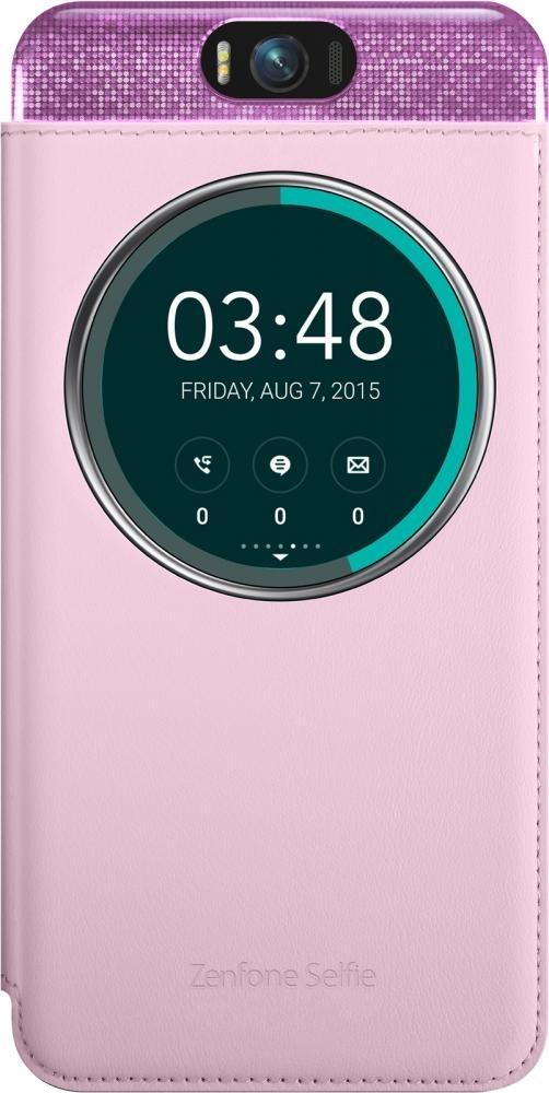 Чехол (флип-кейс) Asus MyView Cover Deluxe для ZenFone Selfie ZD551KL, Pink90AC00X0-BCV003
