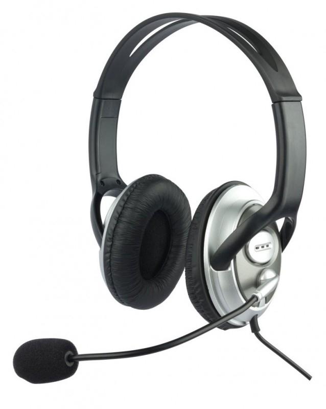 Гарнитура Oklick HS-M131V614040Совместимые со всеми современными устройствами, которые оснащены разъемом 3,5 мм, наушники с микрофоном OKLICK HS-M131V обеспечат вам комфортное прослушивание музыки, просмотр фильмов, подойдут для сетевых игр, а также голосового общения в сети Интернет и по телефону. Длина кабеля обеспечит удобство при использовании гарнитуры и со стационарной, и с портативной техникой. Мощности динамиков, встроенных в наушники с микрофоном OKLICK HS-M131V, достаточно для воспроизведения качественного звука. Плотно прилегающие к ушам мягкие амбушюры данной модели обеспечивают отличную шумоизоляцию и не создают ощущения дискомфорта. Для максимального удобства пользователя имеется возможность регулировать положение микрофона относительно рта, а также громкость воспроизводимого звука, для чего на кабель вынесен удобный регулятор.