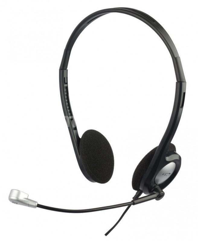 Наушники с микрофоном Oklick HS-M142V, Black Silver