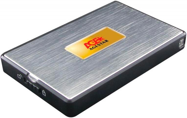 "Корпус для жесткого диска AgeStar SUB2A11 usb2.0 to 2.5"" HDD/SSD SATA, Aluminum ( SUB2A11 )"