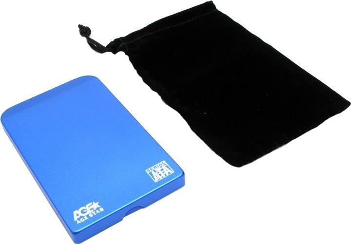 """Корпус для жесткого диска AgeStar 3UB2O1 USB3.0 to 2.5""""hdd SATA, Blue ( 3UB2O1 BLUE )"""