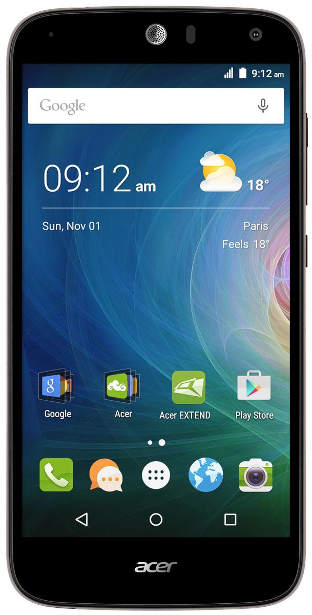 Acer Liquid Z630S, BlackHM.HSYEU.002Оцените возможности смартфона Acer Liquid Z630S: продолжительное время автономной работы, превосходную производительность и высочайшее качество изображения на 5.5 HD-дисплее с технологией IPS. Мощный восьмиядерный процессор обеспечивает быстрое время отклика, удобство работы в браузере, плавное воспроизведение видео и прохождение видеоигр на великолепном 5,5 HD-экране. Батарея 4000 мАч и память 32 ГБ обеспечат заряд на весь день и достаточно места для коллекции фотографий и видео. Удивите своих друзей. Снимите общее сэлфи высокого качества на камеру с широким углом съемки, просто сказав Чиз. Снимки сэлфи с разрешением 8 МП будут прекрасно смотреться на дисплее с технологией IPS, которая обеспечивает высокое качество изображения под любым углом обзора. Заряжайте телефоны друзей с помощью своего мобильного устройства через порт MicroUSB. Кроме того, вы можете подключить к этому порту флэш-накопитель USB, чтобы воспроизводить...