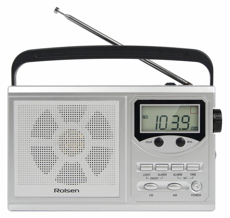 Радиобудильник Rolsen RBM-216SL, Silver1-RLAM-RBM216SL