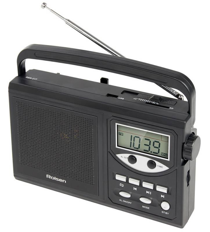 Радиобудильник Rolsen RBM-217BL, Black1-RLAM-RBM217BLRolsen представляет серию радиоприемников, которые удачно впишутся в интерьер вашей квартиры. Радиоприемник оснащен цифровым тюнером для настройки устройства на нужную волну. Такой тюнер позволяет точнее задать значение частоты, а также может осуществлять автоматический поиск и запоминать избранные станции. Радиоприемники Rolsen – идеальное решение для практичных людей.