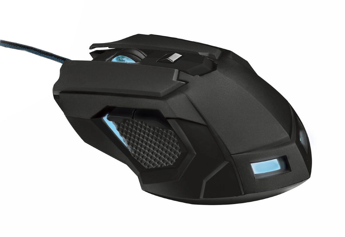 Trust GXT 158 игровая мышь20324Игровая мышь Trust GXT 158 создана, чтобы обеспечить максимальное удобство и комфорт, даже после многих часов непрерывной игры. Чувствительный лазерный датчик с разрешением до 5000 dpi обеспечивает высочайшую точность отслеживания. Удобная форма идеально подходит для хвата как правой, так и левой рукой, а дополнительные клавиши расположены с обеих сторон, что позволяет и левшам, и правшам использовать полную функциональность мыши. 8 программируемых кнопок Расширенная версия ПО для программирования кнопок и создания макросов Внутренний модуль памяти для 5 игровых профилей Настраиваемая светодиодная подсветка