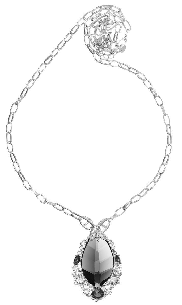 Колье Taya, цвет: серебристый, хематит. T-B-10274T-B-10274-NECK-SL.HEMATITEОригинальное колье Taya изготовлено из металлического сплава. Модель выполнена в виде цепочки якорного плетения и дополнена крупным кулоном. Кулон обрамлен мелкими элементами инкрустированными стразами и дополнен крупным кристаллом в центре. Застегивается колье на замок-карабин с регулирующей длину цепочкой. Такое украшений поможет вам создать уникальный и запоминающийся образ и позволит выделиться среди окружающих.