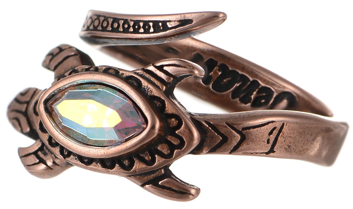 Кольцо Jenavi Калпеса, цвет: медный. k343u070. Размер 18k343u070Оригинальное кольцо Jenavi Калпеса изготовлено из ювелирного сплава с медным покрытием. Декоративный элемент украшения выполнен в виде ящерицы и инкрустирован кристаллом Swarovski. Стильное кольцо придаст вашему образу изюминку и подчеркнет индивидуальность.