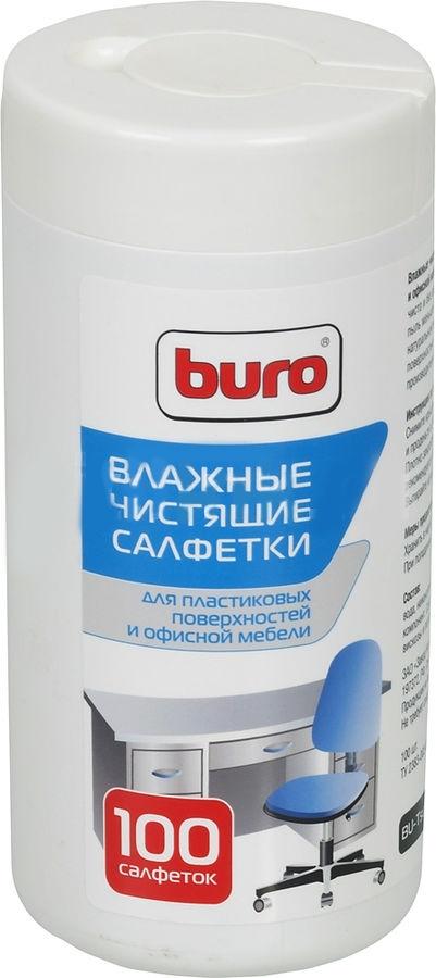 Салфетки чистящие для пластиковых поверхностей и офисной мебели Buro BU-Tsurl, 100 шт