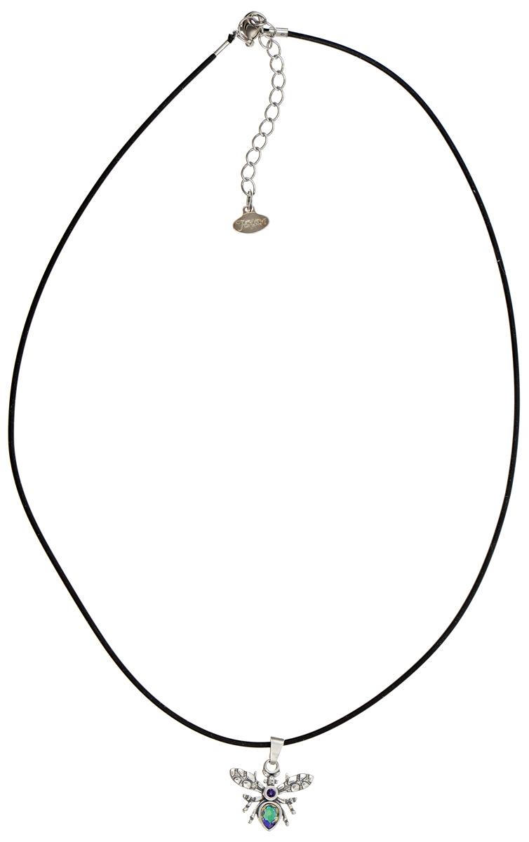 Кулон Jenavi Мэй, цвет: серебристый, зеленый. k3353953k3353953Кулон Jenavi Мэй выполнен в виде оригинального жука из гипоаллергенного ювелирного сплава с покрытием из черненного серебра и оформлен кристаллами и стразами Swarovski. Кулон дополнен прорезиненным шнурком, который застегивается на замок-карабин. Длина изделия регулируется за счет дополнительных звеньев. Кулон Jenavi Мэй поможет дополнить любой образ и привнести в него завершающий штрих.