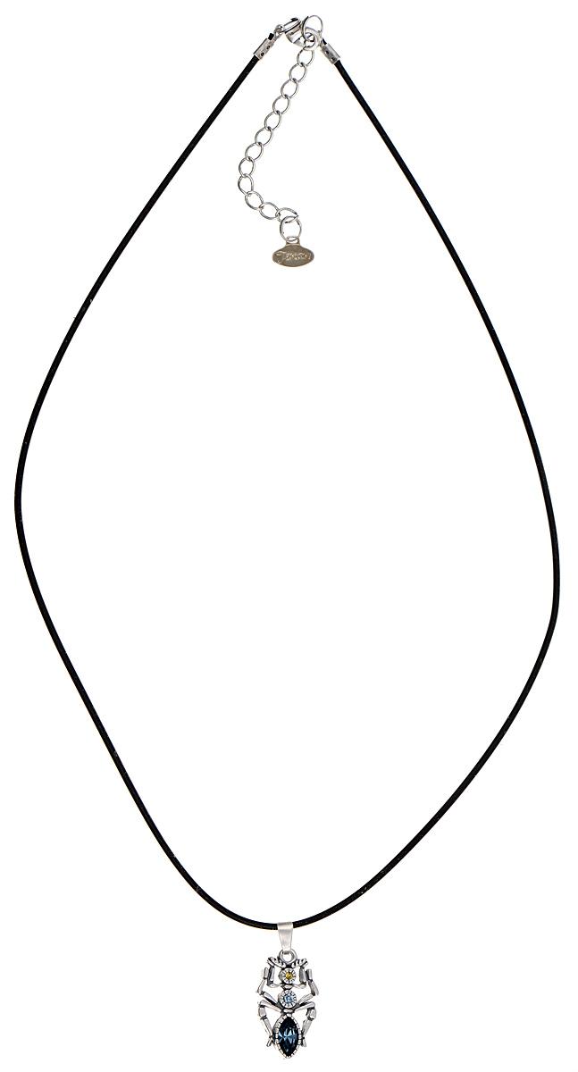 Кулон Jenavi Тоурмис, цвет: серебристый, синий. k3393944k3393944Кулон Jenavi Тоурмис выполнен в виде паука из гипоаллергенного ювелирного сплава с покрытием из черненного серебра и оформлен кристаллами и стразами Swarovski. Кулон дополнен прорезиненным шнурком, который застегивается на замок-карабин. Длина изделия регулируется за счет дополнительных звеньев. Кулон Jenavi Тоурмис поможет дополнить любой образ и привнести в него завершающий штрих.