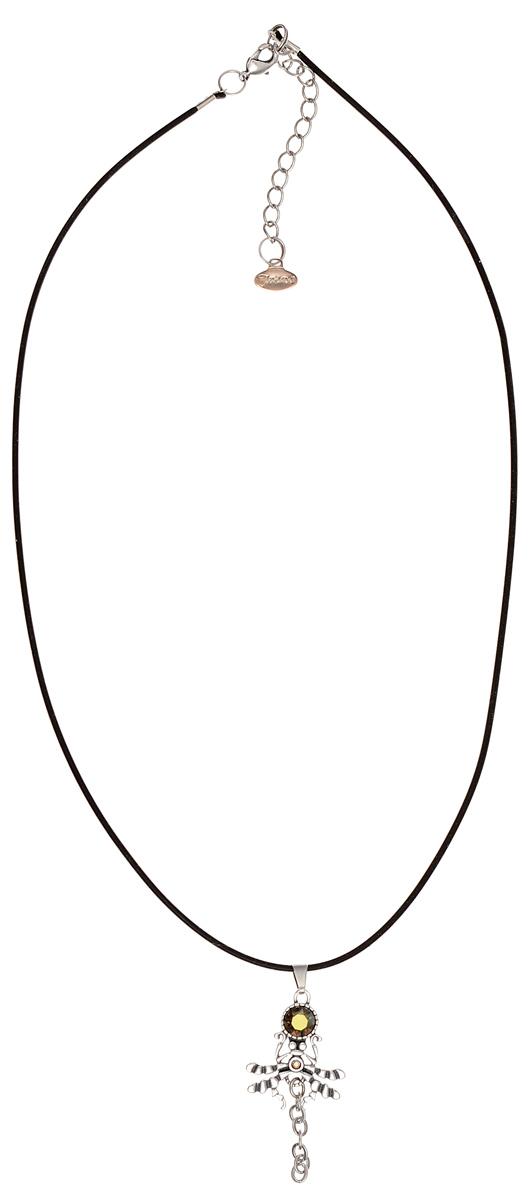 Кулон Jenavi Барк, цвет: серебристый, зеленый. k3443931k3443931Кулон Jenavi Барк выполнен в виде паука плетущего паутину из гипоаллергенного ювелирного сплава с покрытием из черненного серебра и оформлен кристаллами и стразами Swarovski. Кулон дополнен прорезиненным шнурком, который застегивается на замок-карабин. Длина изделия регулируется за счет дополнительных звеньев. Кулон Jenavi Барк поможет дополнить любой образ и привнести в него завершающий штрих.