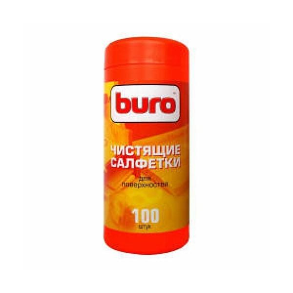 Салфетки чистящие для поверхностей Buro BU-Tsurface, 100 штBU-TSURFACEВлажные салфетки предназначены для очистки любых поверхностей из пластика, металла, дерева и т.п. Имеют антистатический эффект.