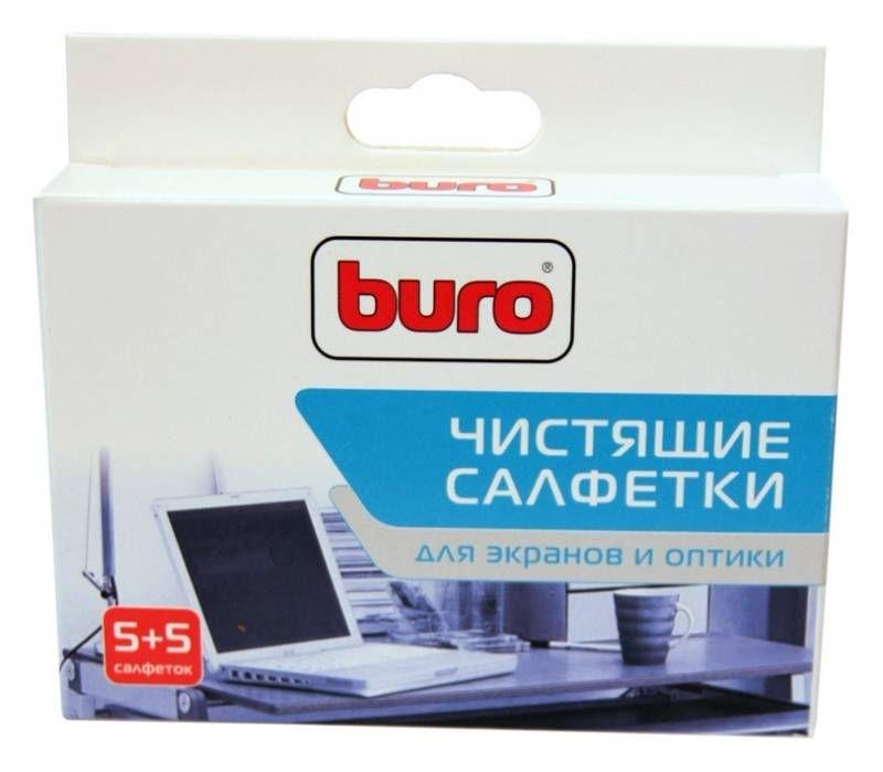 Салфетки чистящие универсальные Buro BU-W/D, 5 шт влажных + 5 шт сухих