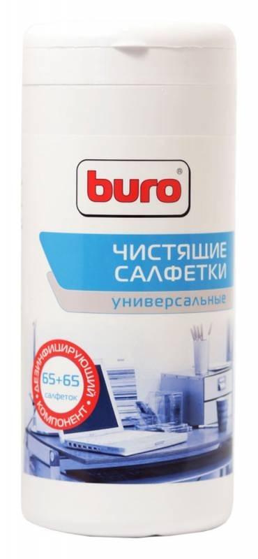 Салфетки чистящие универсальные Buro BU-Tmix, 65 шт влажных + 65 шт сухих