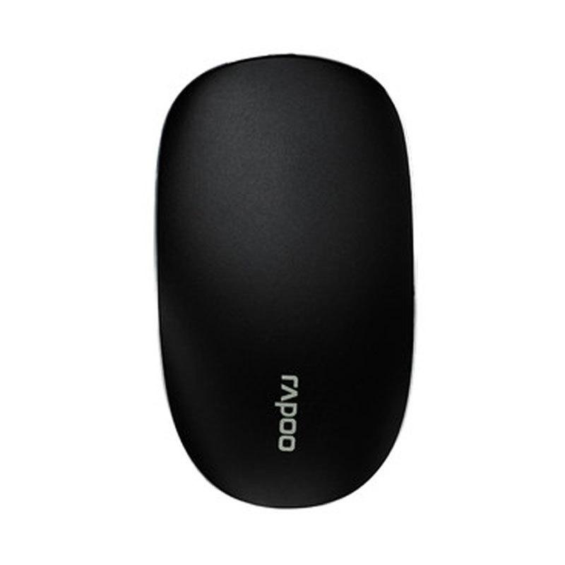 Мышь Rapoo T8 Touch, Black14506Компания Rapoo представила на российском рынке стильную беспроводную лазерную мышь Т8, отличающуюся минималистичным дизайном. Мышь оснащена технологией multi-touch и полностью лишена каких-либо кнопок и колеса прокрутки. Устройство контролируется и управляется только с помощью жестов. Лазерый датчик мыши имеет разрешение до 1600 DPI. Мышка подойдет для решения офисных задач: будь то создание макетов и презентаций или обычный интернет-серфинг.