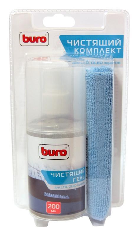 Чистящий набор для экранов ЖК мониторов Buro BU-Glcd, 200 мл