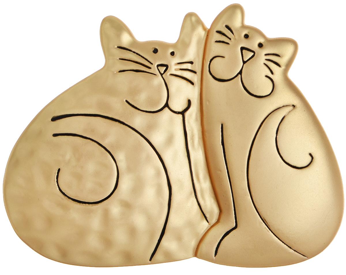 Брошь Selena Street Fashion, цвет: золотистый. 3002656030026560Оригинальная брошь Selena Street Fashion изготовлена из металла с золотистым покрытием. Брошь выполнена в виде двух кошек. Изделие крепится с помощью замка-булавки. Такая брошь позволит вам с легкостью воплотить самую смелую фантазию и создать собственный неповторимый образ.