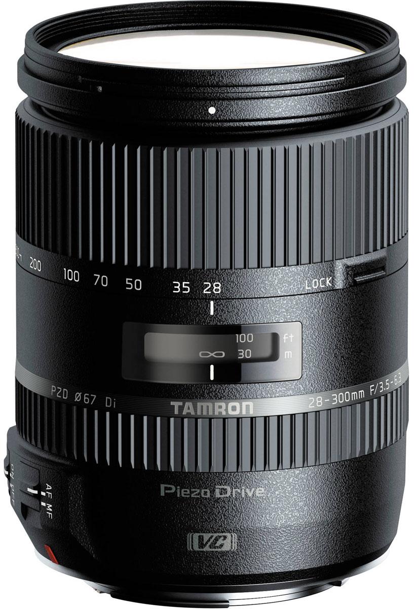 Tamron 28-300mm F/3.5-6.3 Di VC PZD объектив для CanonA010EМощный 10,7-кратный объектив Tamron 28-300mm F/3.5-6.3 Di VC PZD оптимизирован для использования с цифровыми зеркальными фотокамерами, о чем говорит аббревиатура Di (Digital) в его названии. Однако модель может без каких-либо ограничений использоваться с пленочными или полнокадровыми цифровыми SLR-камерами. При работе с неполнокадровыми зеркальными камерами поле зрения объектива приблизительно соответствует фокусным расстояниям в диапазоне от стандартного до ультрателе (44 - 465 мм в 35-мм экв.). Поэтому модель станет оптимальным выбором для фотографов-путешественников, ищущих универсальный объектив на все случаи жизни. В конструкции используется элемент из стекла XR с высоким индексом преломления, который, так же как и входящие в оптическую схему два элемента из низкодисперсионного стекла LD, оптимизирует общее распределение освещения и сводит к минимуму вероятность возникновения аберраций. В оптической схеме также имеются три...