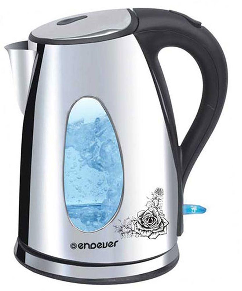 Endever KR-207S SkyLine электрический чайникKR-207SКорпус чайника Endever KR-207S SkyLine выполнен из нержавеющей стали и высококачественного термостойкого стекла, сохраняющего природные свойства воды. Современный дизайн и оригинальный рисунок на корпусе добавляют устройству оригинальности. Благодаря максимальной мощности 2200 Вт, данная модель за считанные минуты вскипятит 1,8 литра воды. Крупное окошко для индикации уровня воды с подсветкой (при включении) позволяет следить за тем, как нагревается вода. Чайник соединён с базой центральным контактом и легко вращается на 360°. Крышка чайника открывается легким нажатием. Съемный фильтр легко снимается, его можно мыть вручную или в посудомоечной машине. Нагревательный элемент встроен в плоское дно и надежно защищен стальной пластиной, что делает его чистку максимально удобной. Среди характеристик безопасности использования чайника стоит отметить автоматический и ручной выключатели, а также защиту от перегрева.