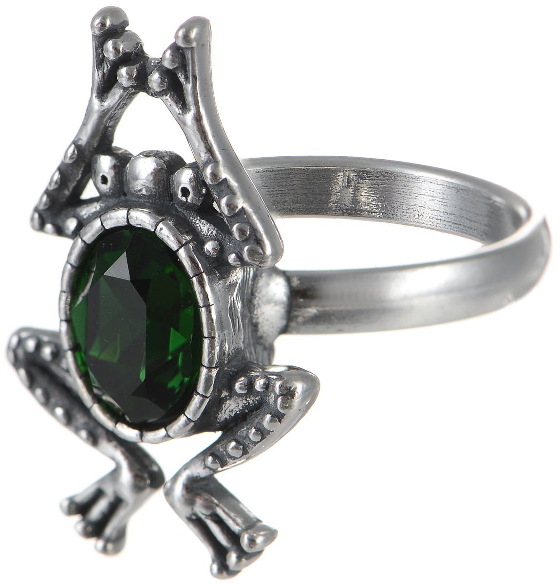 Кольцо Jenavi Пипин, цвет: серебристый, зеленый. k3363032. Размер 17k3363032Оригинальное кольцо Jenavi Пипин, выполненное из ювелирного сплава с покрытием из черненого серебра, оформлено декоративным элементом в виде лягушки, который инкрустирован кристаллами Swarovski. Красивое и необычное украшение блестяще подчеркнет ваш изысканный вкус и поможет внести разнообразие в привычный образ.
