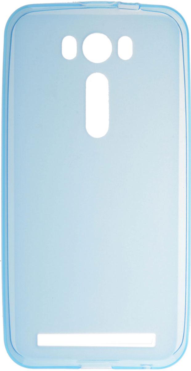 Skinbox 4People Silicone Case чехол для Asus Zenfone 2 Laser (ZE500KL), Blue чехол asus бампер для asus zenfone 2 blue