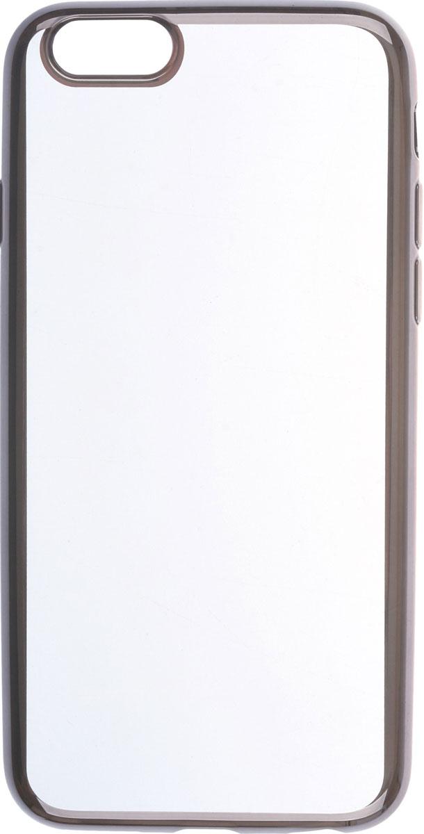 Skinbox 4People Silicone Chrome Border чехол для Apple iPhone 6/6s, Black2000000089690Чехол-накладка Skinbox 4People Silicone Chrome Border для Apple iPhone 6/6s обеспечивает надежную защиту корпуса смартфона от механических повреждений и надолго сохраняет его привлекательный внешний вид. Накладка выполнена из высококачественного силикона, плотно прилегает и не скользит в руках. Чехол также обеспечивает свободный доступ ко всем разъемам и клавишам устройства.