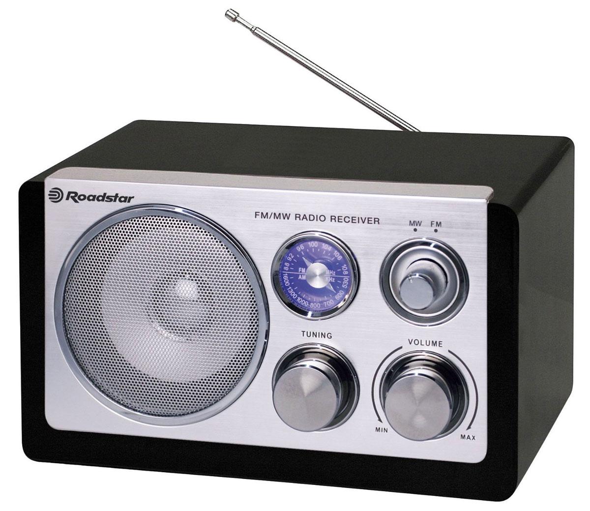 RoadStar HRA-1200N/BK, Black, ретро-радиоприемник
