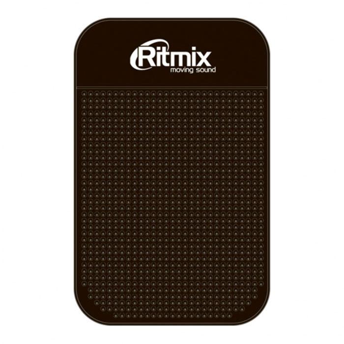 Ritmix RCH-003, Black силиконовый коврик-держатель для смартфонов15118368Ritmix RCH-003 - это противоскользящий силиконовый коврик, который надежно зафиксирует мобильный телефон, КПК, iPod, радар-детектор, монеты и другие мелкие предметы на приборной панели вашего автомобиля. Благодаря специальной структуре поверхности, коврик препятствует соскальзыванию предметов при движении, ускорении или торможении автомобиля. Данный коврик фиксирует предметы даже на поверхностях с углом наклона 60-90 градусов. Крепление без использования магнитов или клейких материалов Удерживающий эффект усиливается на горизонтальных поверхностях Материал: силикон Размеры: 14,3 х 8,7 см