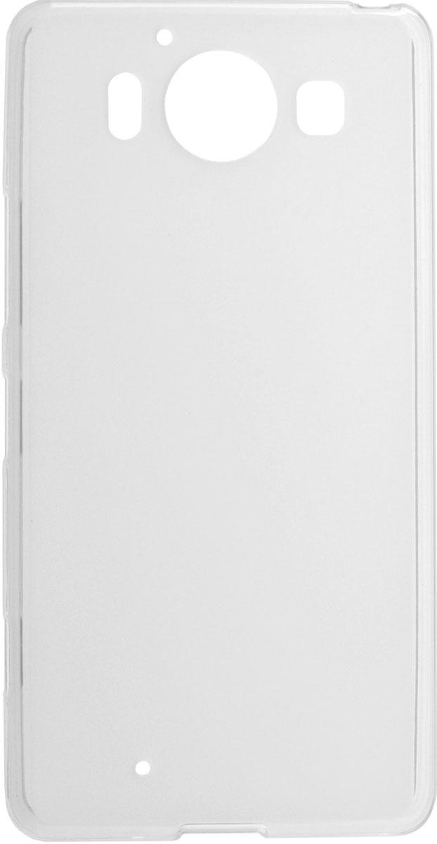 Skinbox Shield Silicone чехол для Microsoft Lumia 950, Transparent