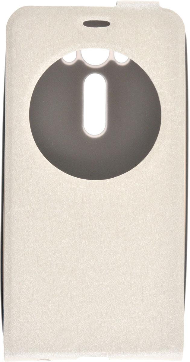 Skinbox Slim AW чехол для Asus Zenfone Laser 2 ZE500KL/ZE500KG, White2000000083544Чехол Skinbox Slim AW для Asus Zenfone 2 Laser ZE500KL/ZE500KG выполнен из высококачественного поликарбоната и экокожи. Он обеспечивает надежную защиту корпуса и экрана смартфона и надолго сохраняет его привлекательный внешний вид. Чехол также обеспечивает свободный доступ ко всем разъемам и клавишам устройства.