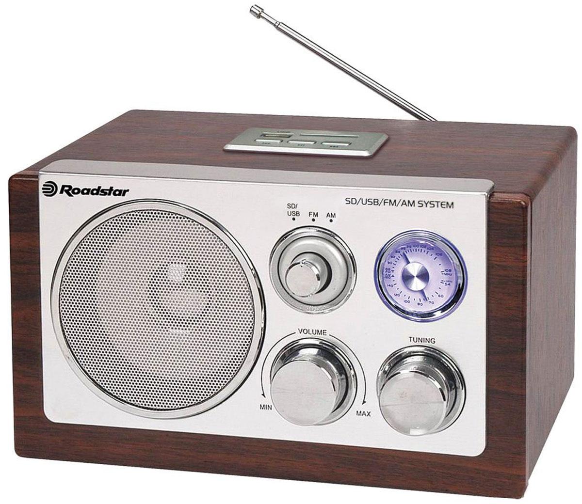 RoadStar HRA-1325US/WD, Wood, ретро-радиоприемник