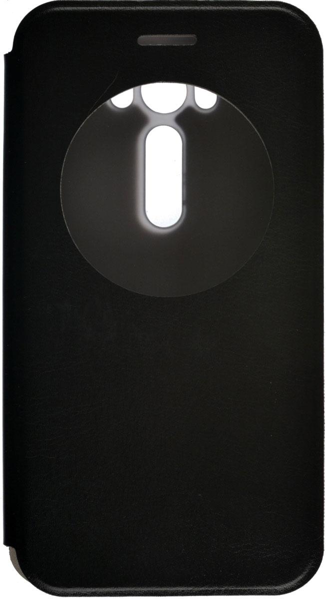 Skinbox Lux AW чехол для Asus Zenfone 2 Laser ZE500KL/ZE500KG, Black2000000086668Чехол Skinbox Lux AW для Asus Zenfone 2 Laser ZE500KL/ZE500KG выполнен из высококачественного поликарбоната и экокожи. Он обеспечивает надежную защиту корпуса и экрана смартфона и надолго сохраняет его привлекательный внешний вид. Чехол также обеспечивает свободный доступ ко всем разъемам и клавишам устройства. Благодаря функциональному окну отсутствует необходимость открывать чехол для того, чтобы ответить на вызов, проверить время, воспользоваться камерой или любой другой функцией.