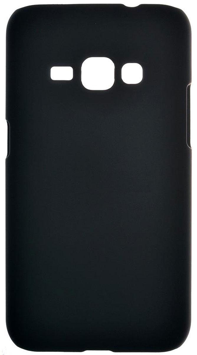 Skinbox 4People чехол для Samsung Galaxy J1 (2016), Black2000000090641Чехол-накладка Skinbox 4People для Samsung Galaxy J1 (2016) бережно и надежно защитит ваш смартфон от пыли, грязи, царапин и других повреждений. Выполнена из высококачественного поликарбоната, плотно прилегает и не скользит в руках. Чехол-накладка оставляет свободным доступ ко всем разъемам и кнопкам устройства.
