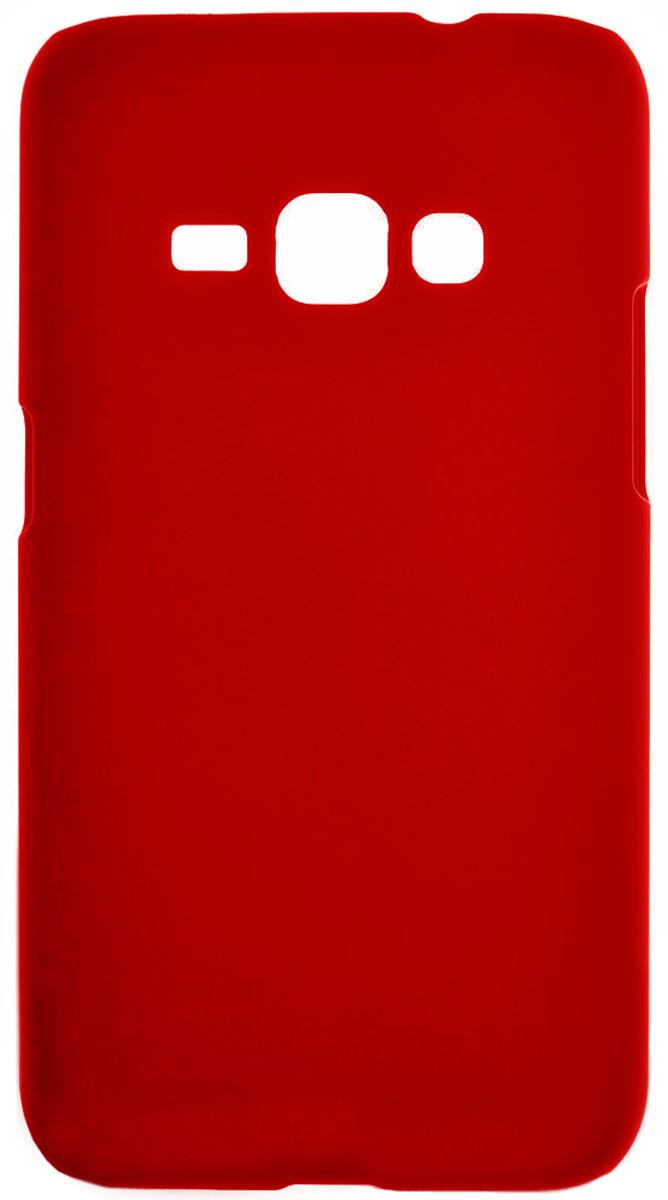 Skinbox 4People чехол для Samsung Galaxy J1 (2016), Red2000000090627Чехол-накладка Skinbox 4People для Samsung Galaxy J1 (2016) бережно и надежно защитит ваш смартфон от пыли, грязи, царапин и других повреждений. Выполнена из высококачественного поликарбоната, плотно прилегает и не скользит в руках. Чехол-накладка оставляет свободным доступ ко всем разъемам и кнопкам устройства.