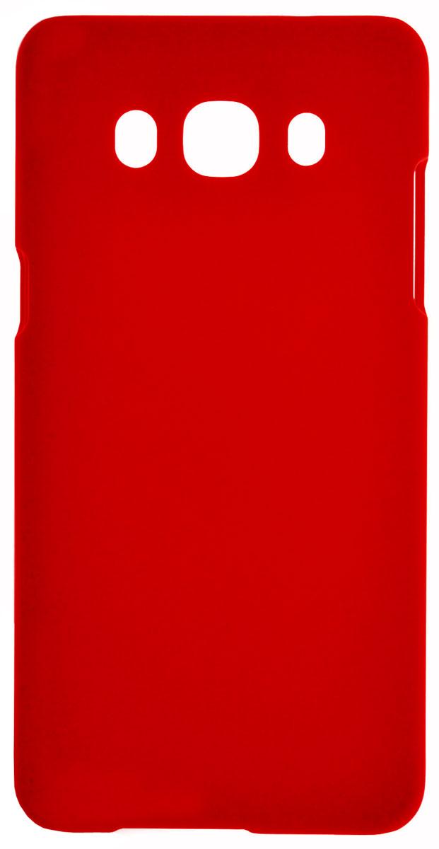 Skinbox 4People чехол для Samsung Galaxy J5 (2016), Red2000000090702Чехол-накладка Skinbox 4People для Samsung Galaxy J5 (2016) бережно и надежно защитит ваш смартфон от пыли, грязи, царапин и других повреждений. Выполнена из высококачественного поликарбоната, плотно прилегает и не скользит в руках. Чехол-накладка оставляет свободным доступ ко всем разъемам и кнопкам устройства.