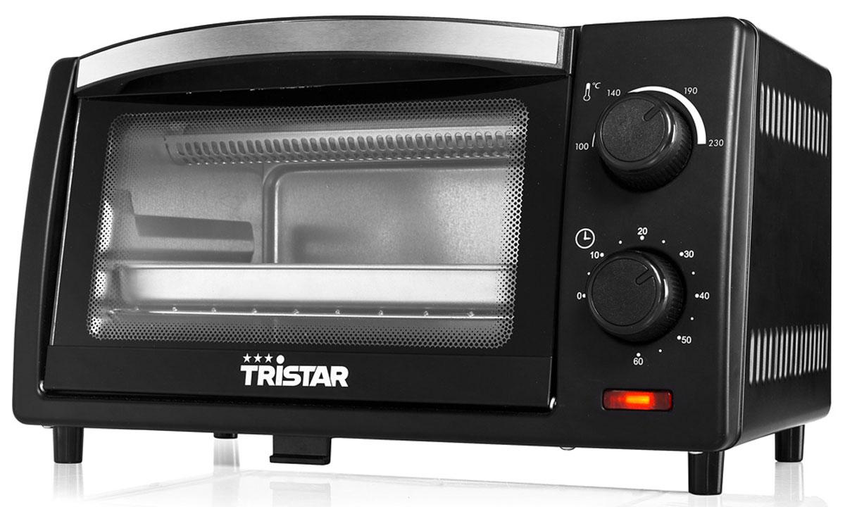 Tristar OV-1430, Black минипечьOV-1430Мини-печь Tristar OV-1430 обладает объемом 9 литров и мощностью 800 Вт. Этот компактный прибор пригодится на любой кухне. Выпекайте любимые пироги и блюда с комфортом. Внутренняя поверхность имеет долговечное стойкое покрытие. Таймер с сигналом на 60 минут позволит рассчитать точное время приготовления блюд. Противень для выпечки: 19 x 25.5 x 16.5 см Решетка - гриль в комплекте Держатель для противня или решетки Регулируемая температура 100-230° C Съемное дно для очистки от крошек Индикатор питания