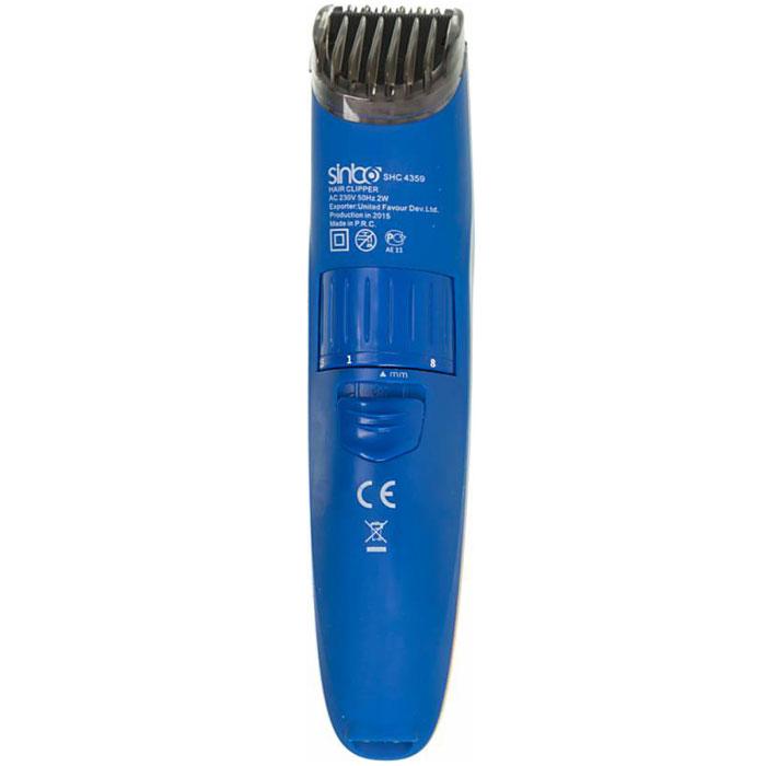 Sinbo SHC 4359, Blue машинка для стрижки волосSHC 4359Машинка для стрижки волос Sinbo SHC 4359 выполнена в элегантном дизайне, эргономична и оснащена надежными и качественными лезвиями из нержавеющей стали. Длина волос регулируется от 1 до 8 миллиметров благодаря насадке с регулировкой длины. С машинкой SHC 4359 вы сможете самостоятельно сделать себе стильную и качественную стрижку не выходя из дома.
