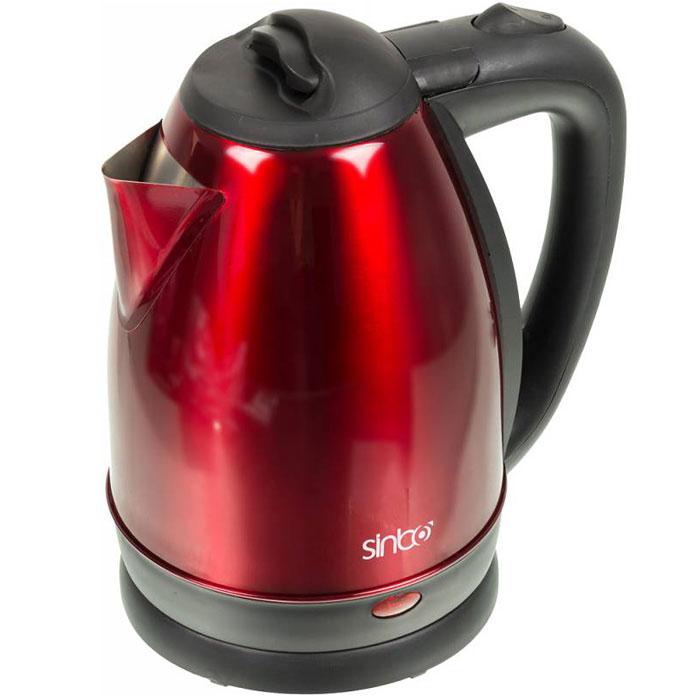 Sinbo SK 7337 электрический чайникSK 7337Чайник Sinbo SK 7337 1.8л. 2200Вт красный/черный (нержавеющая сталь)