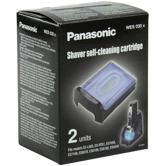 Panasonic WES 035 картридж для самоочистки бритвWES 035Panasonic WES 035 - оригинальный сменный картридж для самоочистки электрических бритв. Можно использовать без замены в течение 40 дней. Подходит для моделей: Panasonic ES-LA93, ES-RT81, ES7109, ES7058, ES8078, ES8109, ES8168, ES8243, ES8249, ES-LF71, ES-RT87.