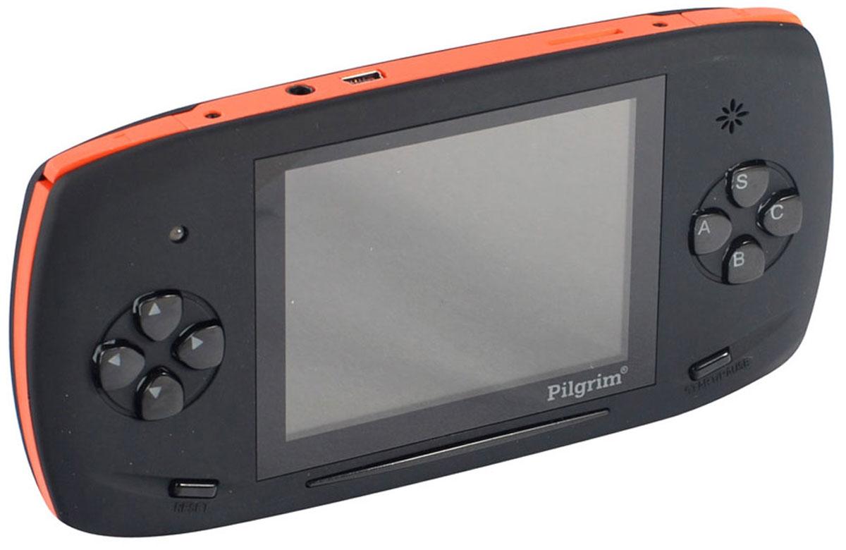 Игровая приставка DVTech Pilgrim 2 4.3 LCD 350 игр, Black Orange4601250109169DVTech Pilgrim 4.3 LCD - портативная игровая система c поддержкой игр 16 bit Sega и 8 bit Dendy, совместима с картами памяти формата micro SD, имеет 350 предустановленных игр разных жанров. В приставке успешно соединяются - классическое управление, качественный LCD экран с диагональю 3.5, внешняя регулировка звука, а также возможность подключения к телевизору по низкой частоте. AV-выход Выход на наушники Встроенный динамик Тип аккумулятора: Li-Ion