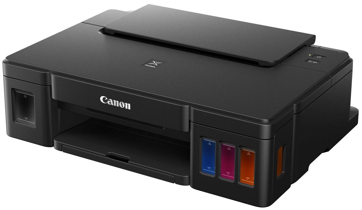 Canon PIXMA G1400 струйный принтер0629C009Высокопроизводительный однофункциональный принтер Canon PIXMA G1400 идеален для высококачественной и недорогой печати документов и фотографий дома или в офисе. Не всем нужно многофункциональное устройство, поэтому Canon создали принтер PIXMA G1400. Эта модель имеет все преимущества серии PIXMA G и является простым в использовании принтером, обеспечивающим высокое качество печати в больших объемах. Более высокое качество отпечатков с высококачественными пигментными черными и цветными чернилами, для печати четких документов и невероятно ярких изображений. Печать фотографий формата 10х15 см (4x6) без полей всего за 60 секунд. Дизайн струйного принтера PIXMA G1400 тщательно продуман. Чернильницы расположены во фронтальной части, так чтобы заправка чернил, отслеживание их уровня во время использования не составило труда. Компактные размеры и элегантный дизайн позволят расположить принтер на рабочем столе, не занимая много места. ...