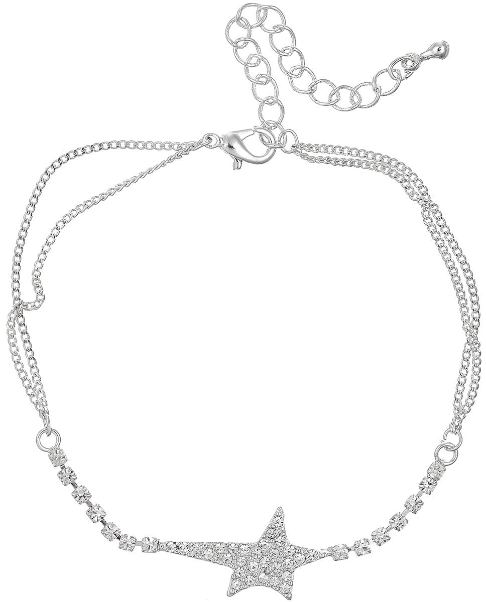 Браслет Selena Street Fashion, цвет: серебряный. 4003675040036750Элегантный браслет Selena Street Fashion выполнен из ювелирного сплава с гальваническим покрытием из родия и оформлен кристаллами Swarovski. Украшение застегивается на практичный замок-карабин, длина изделия регулируется. Красивое украшение блестяще подчеркнет изысканный вкус, женственность и красоту своей обладательницы и поможет внести разнообразие в привычный образ.