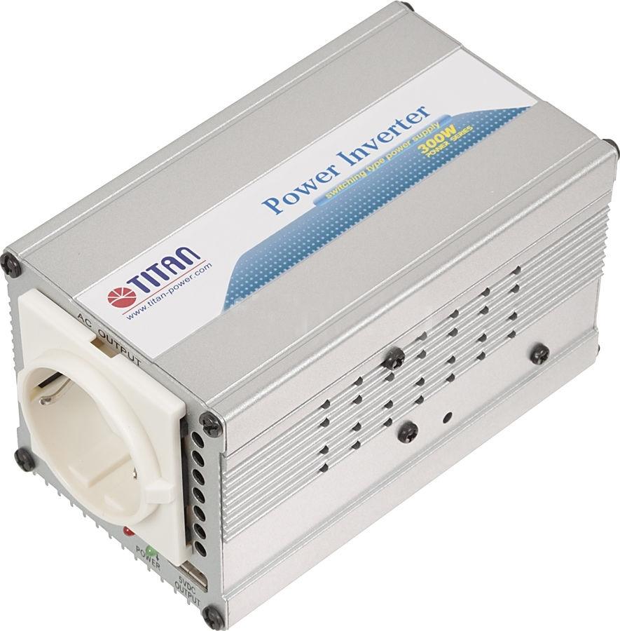 Автоинвертор Titan TP-300L6TP-300L6Портативный адаптер питания компании Titan является идеальным устройством питания для DVD-плееров, мобильных телефонов, ноутбуков и многих других электронных приборов . Адаптирован к большинству типов электронной техники. Многоуровневая защита, в том числе от перегрева, скачков напряжения и перегрузки, обеспечивает безопасность эксплуатации. Несомненно, Titan - Ваш лучший друг в мире систем электропитания!