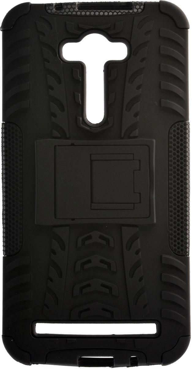 Skinbox Defender чехол для Asus Zenfone 2 Laser ZE550KL, Black2000000084299Накладка Skinbox Defender выполнена из высококачественного поликарбоната, она плотно прилегает и не скользит в руках. Чехол надежно фиксирует и защищает смартфон при падении. Обеспечивает свободный доступ ко всем разъемам и элементам управления.