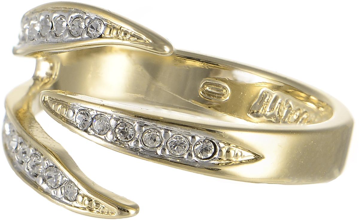 Кольцо Jenavi Флюкс, цвет: золотой, белый. f631q000. Размер 17f631q000Оригинальное кольцо Jenavi Флюкс изготовлено из ювелирного сплава с покрытиями из золота и родия. Украшение инкрустировано кристаллами Swarovski. Стильное кольцо придаст вашему образу изюминку и подчеркнет индивидуальность.