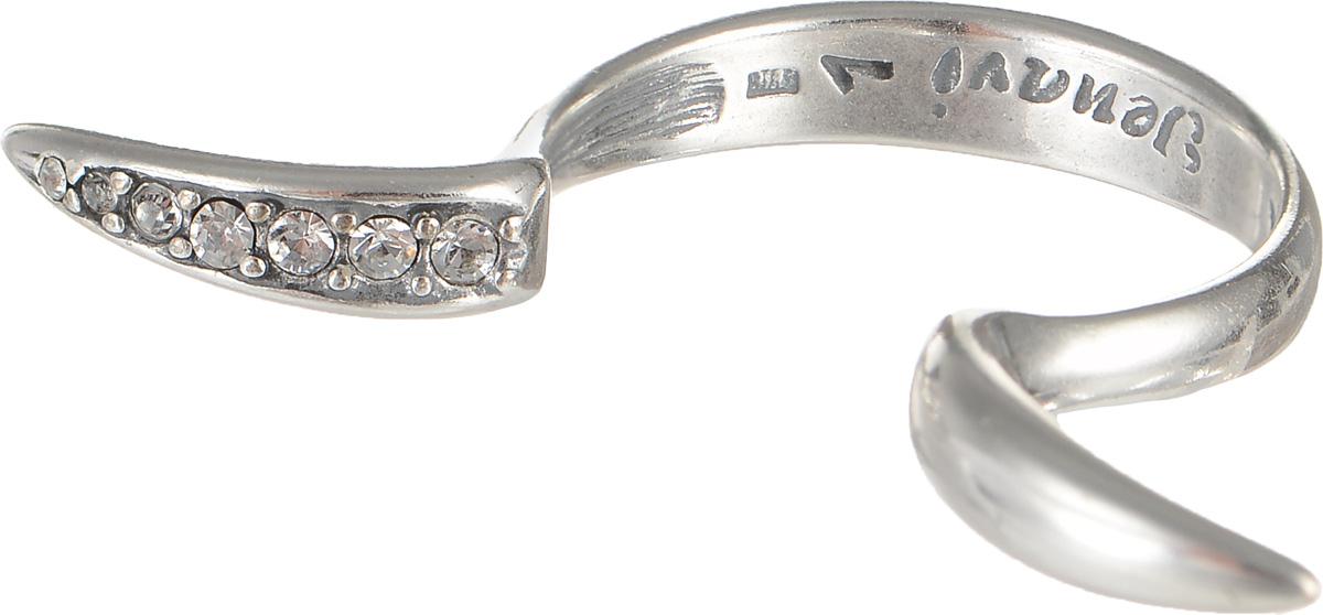 Кольцо Jenavi Алиас, цвет: серебряный, белый. f6343000. Размер 20f6343000Очаровательное кольцо Jenavi Алиас изготовлено из ювелирного сплава с покрытием из черненого серебра. Украшение современного дизайна инкрустировано стразами Swarovski. Стильное кольцо придаст вашему образу изюминку и подчеркнет индивидуальность.