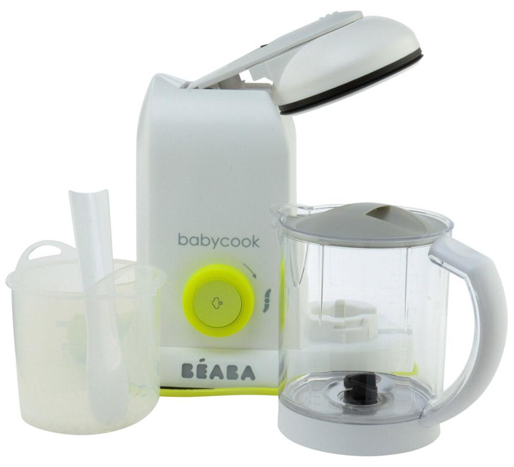 Beaba Блендер-пароварка Babycook Neon912462Компактная блендер-пароварка Beaba Babycook Neon предназначена для приготовления питательных детских смесей. Идеально подойдет для родителей, которые хотят достоверно знать, какие именно компоненты входят в питание их малыша. С этим кухонным прибором процесс приготовления становится максимально легким и быстрым. Готовит на пару овощи, фрукты и мясо менее, чем за 15 минут, сохраняя все витамины и ароматы. Родители также могут использовать блендер для быстрого разогрева или размораживания продуктов-полуфабрикатов. Дети привыкают к еде постепенно: сначала едят пюреобразую пищу, затем измельченную и, наконец, нарезанную. С помощью пароварки вы можете легко получить любой вариант: Приготовление на пару с сохранением витаминов и минеральных солей. Это значит, что собственный вкус продуктов сохраняется лучше. Всего за 15 минут. Функции блендера. С возможностью регулировки степени измельчения - в соответствии с потребностями ребенка на данном этапе. Быстрая разморозка. Просто...