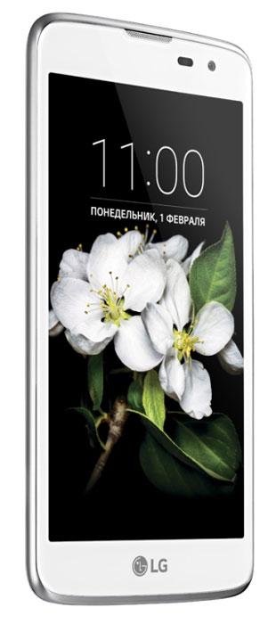 LG K7 X210DS, WhiteLGX210DS.ACISWHЖивите в своем ритме - открывайте новые интересные места, получайте невероятные впечатления! Не ограничивайте себя в желаниях - наслаждайтесь смелым, стильным дизайном, делайте необычные селфи. Пусть мир вокруг становится ярче, а ваш новый LG K7 каждый день вдохновляет на новые открытия. Стильный дизайн с 2.5D-стеклом: Оцените современный стильный дизайн К7 с плавными гранями 2.5D-стекла дисплея и рельефной текстурой задней панели. Этот смартфон так удобно лежит в руке, будто создан специально для вас. Съемка по жесту руки: Делать селфи с LG K7 просто и удобно. Покажите камере раскрытую ладонь, сожмите ее в кулак, и начнется 3- секундный отсчет перед снимком. Вам остается только улыбнуться! Фронтальная камера 5 Мп со вспышкой для селфи: Всего одно селфи - и вы затмите всех! Благодаря виртуальной вспышке фронтальной камеры вы сможете даже при плохом освещении делать великолепные фотографии и радоваться бесчисленным лайкам...